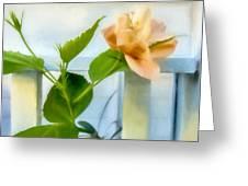 Watercolor Hibiscus Greeting Card