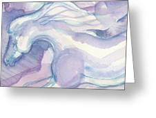 Watercolor Horses II Greeting Card