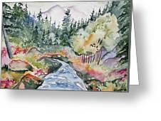 Watercolor - Long's Peak Autumn Landscape Greeting Card