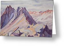 Watercolor - Near The Top Of Mount Sneffels Greeting Card