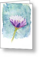 Watercolor Of Lotus Flower. Greeting Card