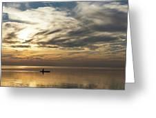 Watercolor Paddle - Kayaking Through A Glorious Silken Morning Greeting Card