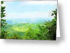 Watercolor Painting Of The English Countryside Greeting Card