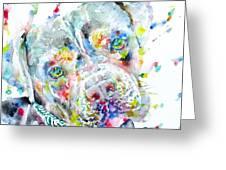 Watercolor Pit Bull.2 Greeting Card
