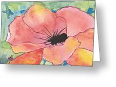 Watercolor Poppy Greeting Card