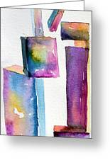 Watercolor Sculpture Greeting Card