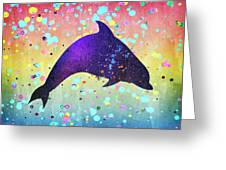 Watercolor Silhouette - Dolphin  Porpoise Greeting Card