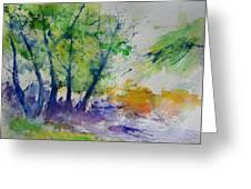Watercolor Spring 2016 Greeting Card