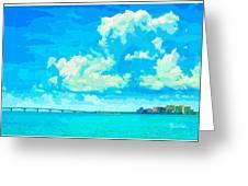 Watercolor Spring On Sarasota Bay Greeting Card