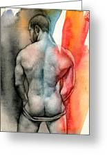 Watercolor Study 6 Greeting Card by Chris Lopez