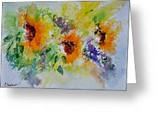 Watercolor Sunflowers Greeting Card