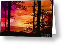 Watercolor Sunrise Greeting Card