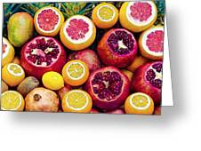 Watercolor Superfood Combo Greeting Card by Celestial Images