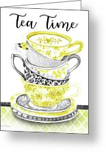 Watercolor Teacups-c Greeting Card