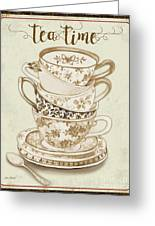Watercolor Teacups-e Greeting Card