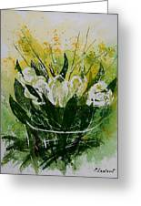 Watercolor Tulips Greeting Card