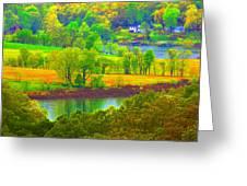 Watercolor View Greeting Card