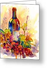 Watercolor Wine Greeting Card