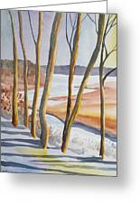 Watercolor - Winter Sunrise Greeting Card