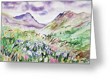 Watercolor - Yankee Boy Basin Landscape Greeting Card