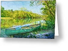 Watercolors At The Lake Greeting Card