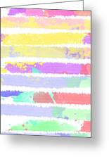 Watercolour Abstract Strips Greeting Card