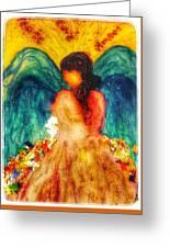Watercolour Angel Greeting Card