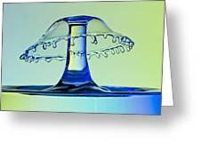 Waterdrop Collision 3 Greeting Card