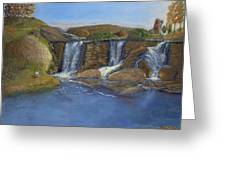 Waterfall - Dancing Lights Greeting Card