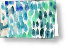 Waterfall 2- Abstract Art By Linda Woods Greeting Card