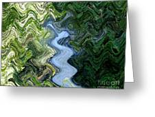 Waterfall Abstract Greeting Card