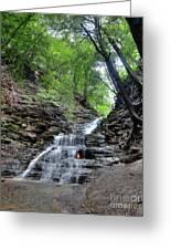Waterfall And Natural Gas Greeting Card