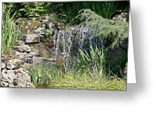 Waterfall And Pond Greeting Card