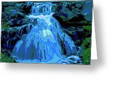 Waterfall At Finch 2 Greeting Card