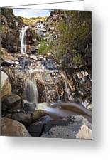 Waterfall At La Jolla Canyon Greeting Card