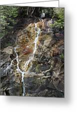 Waterfall At Lake Willoughby  Greeting Card