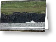 Waterfall At The Cliffs Of Moher Greeting Card