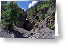 Waterfall At Yankee Boy Basin Greeting Card
