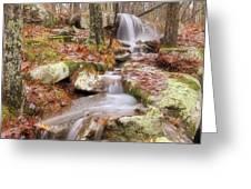 Waterfall Atop Petit Jean Mountain - Arkansas - Nature Greeting Card