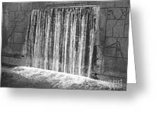 Waterfall Backdrop Greeting Card