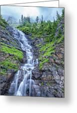 Waterfall Below The Garden Wall Greeting Card