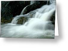 Waterfall Cascading Into Li Jiang River Greeting Card