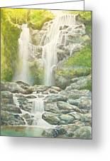 Waterfall Greeting Card by Charles Hetenyi