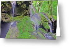 Waterfall Details Greeting Card