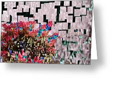 Waterfall Flowers 2 Greeting Card