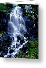 Waterfall Flowing And Ebbing Greeting Card