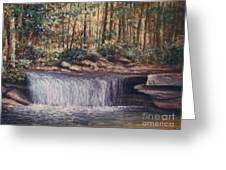 Waterfall Glory Greeting Card