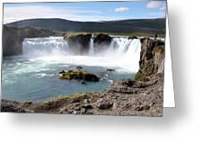 Waterfall - Godafoss Greeting Card