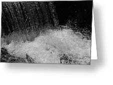 Waterfall In Black And White Greeting Card