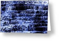 Waterfall In Blue Greeting Card